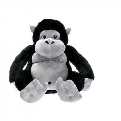 Opice plyšová 65cm sedící černá 0m+ v sáčku