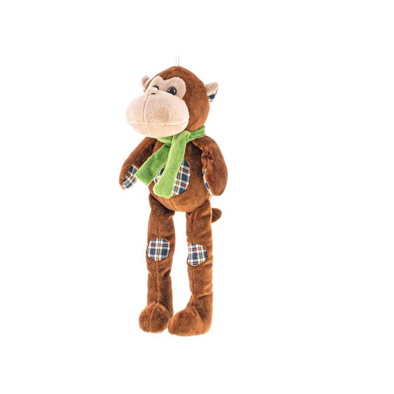 Pluszowa małpa z długimi nogami 32 cm 0m+ w torbie