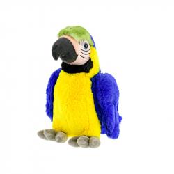 Papagáj plyšový 29cm modrý 0m+ v sáčku