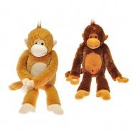 Opica plyšová dlhé nohy 60cm 0m + 2barvy v sáčku
