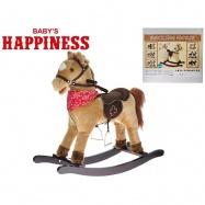 Koník houpací 69x75x30cm na baterie se zvukem otevírající pusu Baby´s Happiness 18m+ v krabičce