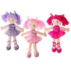 Pluszowa lalka 40cm 3 wzory (jasnoróżowy,ciemnoróżowy,fioletowy