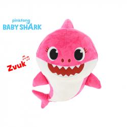 Pluszowy rekin samica 28 cm z dźwiękiem z rodziną