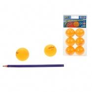 Míčky na stolní tenis 40mm bezešvé oranžové 6ks v blistru