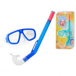 Potápěčská sada 3-6let brýle polykarbonátová skla + šnorchl 2barvy v blistru