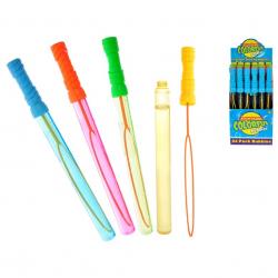 Miecz na bańki 37cm 120 ml 4 wzory (żółty,zielony,niebieski,pomarańczowy) 34 szt. w displayu
