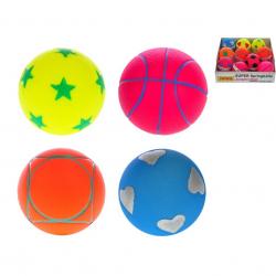 Piłka 6,5cm 4 wzory 40 szt. w pudełku