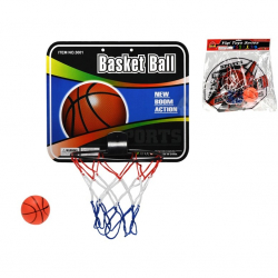 Basketbalový koš s  míčem 9cm 2druhy v sáčku