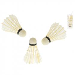 Košíčky na badminton péřové 3ks v tubě