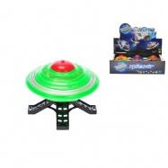 UFO 10cm na zotrvačník na batérie so svetlom 6barev 6ks v DBX