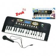 Pianko 37 kláves 43x16cm s mikrofonem na baterie s funkcí nahrávání v krabičce