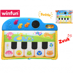 Pianko detské 41 cm 5 klávesov na batérie so svetlom a zvukom 0m + v krabičke