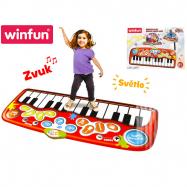 Piano Jumbo step-to-play 178x78cm 24kláves na baterie se světlem a zvukem v krabičce