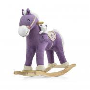 Houpací koník s melodií Milly Mally Pony fialový