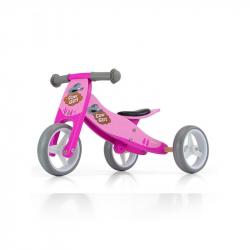 Dětské multifunkční odrážedlo kolo Milly Mally JAKE pink Cowgirl