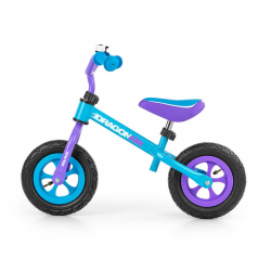 Detské odrážadlo bicykel Milly Mally Dragon Air turquise