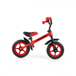 Detské odrážadlo bicykel Milly Mally Dragon s brzdou red