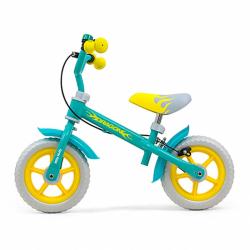 Detské odrážadlo bicykel Milly Mally Dragon s brzdou Mint