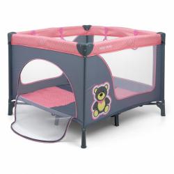 Składany kojec dla dzieci Milly Mally Fun Pink Bear