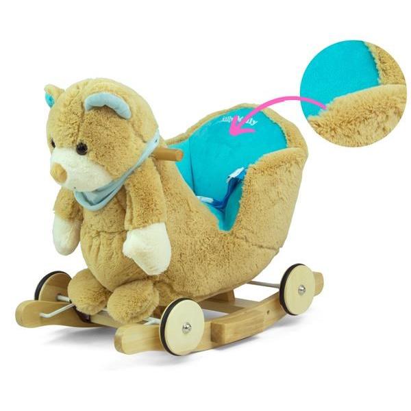 Houpací hračka s melodií a kolečky Milly Mally Polly Medvídek šedo-modrý