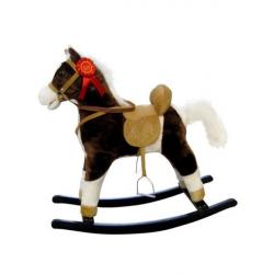Houpací koník s melodií Milly Mally Mustang tmavě hnědý
