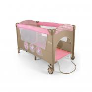Cestovná postieľka Milly Mally Mirage pink toys