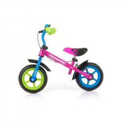 Detské odrážadlo bicykel Milly Mally Dragon s brzdou multicolor