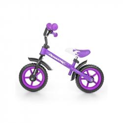 Detské odrážadlo bicykel Milly Mally Dragon purple