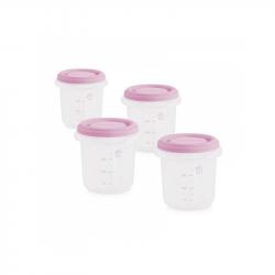 Kelímky na jídlo s víčkem Pink 4ks