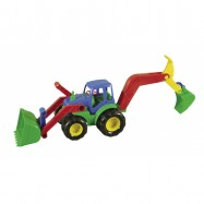 Traktor s radlicí a rypadlem 52cm