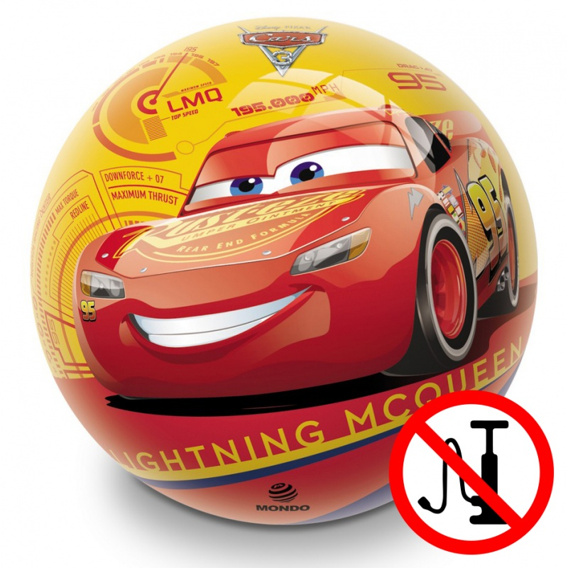 míč vyfouknutý CARS - Auta, 23 cm