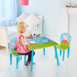 Detský stôl s stoličkami Prasiatko Peppa