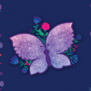Podložka na stůl 60x40cm Motýl 5-84320