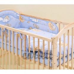 Komplet 3 częściowy do łóżeczka Chmurka - niebieski