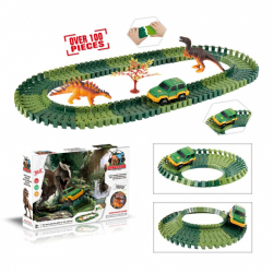 Variabilní dráha s dinosaury 100 dílů
