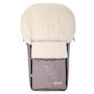 Luxusné fusak s ovčím rúnom New Baby béžový