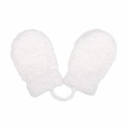 Detské zimné rukavičky New Baby so šnúrkou bielej