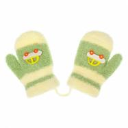 Detské rukavičky New Baby s autom zelené