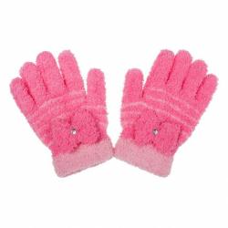 Detské zimné froté rukavičky New Baby ružové
