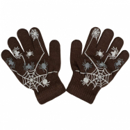 Dětské zimní rukavičky New Baby s pavoukem hnědé