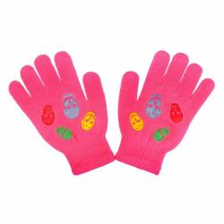 Detské zimné rukavičky New Baby Girl tmavo ružove