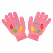 Detské zimné rukavičky New Baby Girl malinové