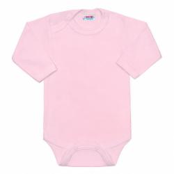 BIO body s dlhým rukávom New Baby ružové