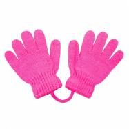Dětské rukavičky New Baby tmavě růžové
