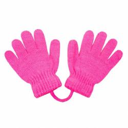 Detské rukavičky New Baby tmavo ružovej