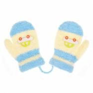 Detské rukavičky New Baby s autom svetle modro-žlté