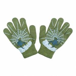 Detské rukavičky New Baby s pavúkom zelené