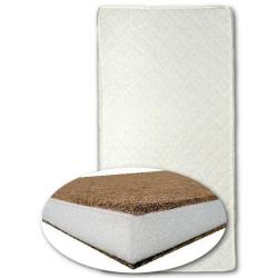 Detský matrac New Baby 120 x 60 kokos-molitan-kokos biela