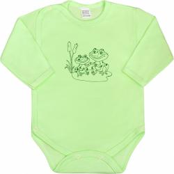 Kojenecké body celorozepínací New Baby Malá Zvířátka zelené