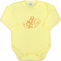 Body niemowlęce Full Body New Baby Small Animals Żółty